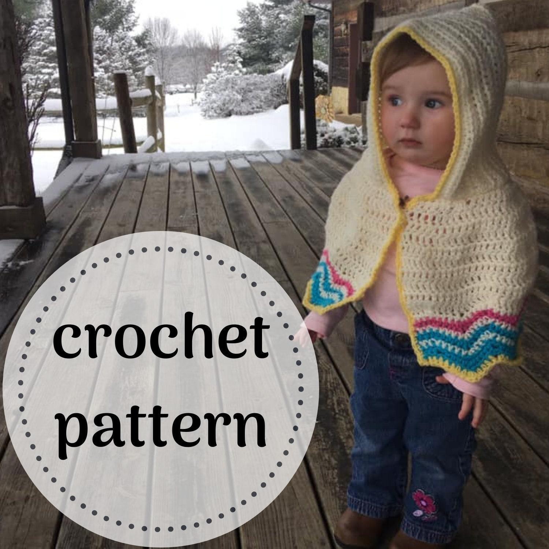 Baby Crochet Poncho Pattern Kid Poncho Etsy