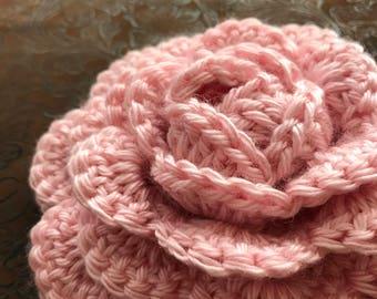 Cottage rose crochet embellishment