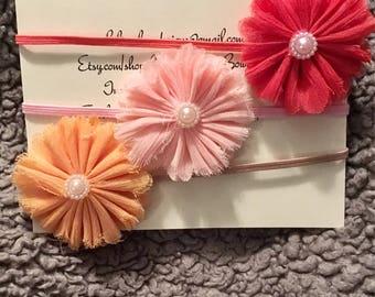 3 flower headbands