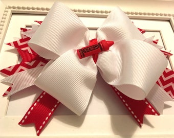 Red Crayon Bow