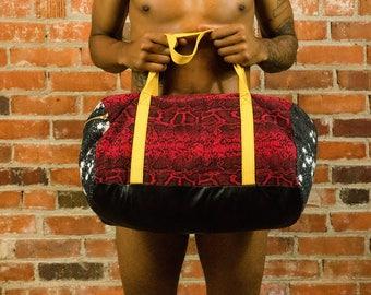 Snakeskin Gym Bag