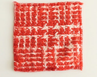 Chanel Fabric Swatch Red White