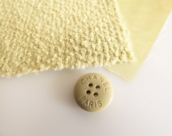 Chanel Fabric Button Swatch Khaki
