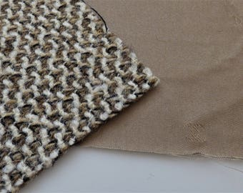 Chanel Fabric Swatch Brown Beige White CC