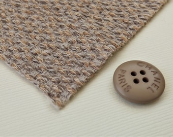 Chanel Fabric Button Swatch Beige/Camel