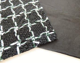 Chanel Fabric Swatch 12P Black White Camellia