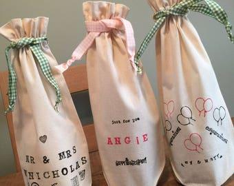 Personalised handmade bags
