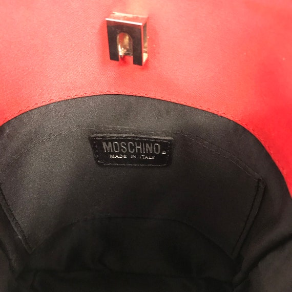 Vintage Moschino Bustier Bag Black Lace 1980's Ra… - image 8
