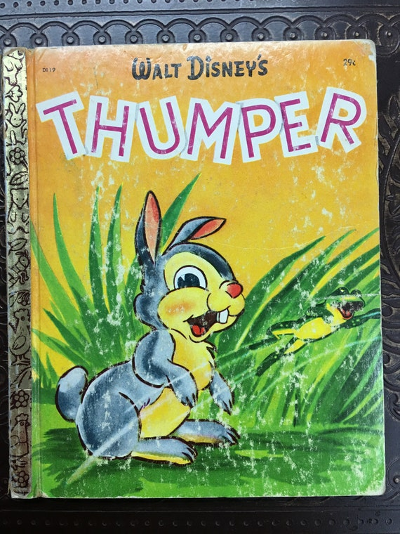 Walt Disney S Thumper D119 Little Golden Book 1941 Etsy