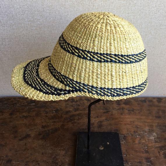 African Straw Hat, Decorative Woven Bolga Sun Cap - image 2