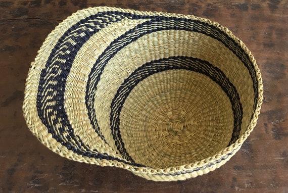 Straw Woven Sun Cap, African Bolga Wall Decor, St… - image 5