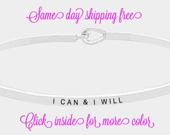 The inspired bangle ( I can & I will )