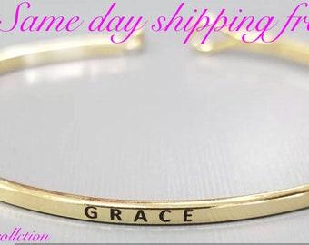 Grace inspired bangle bracelet