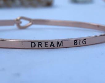 Inspired bangle , ( dream big )
