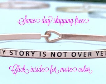 Inspired bangle ( my story is not over yet )