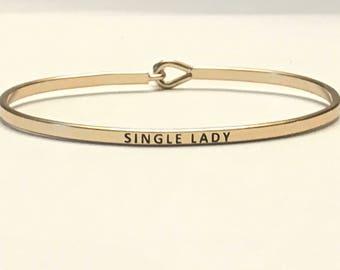 Inspired bangle bracelet ( signal lady )