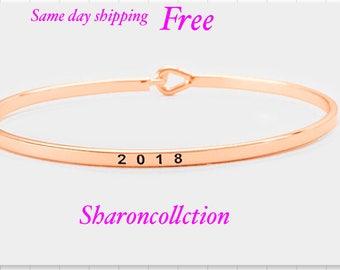 2018, inspired bangle bracelet