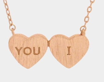 I love you , inspired necklace perfect gift for Girll