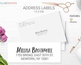 Address Label, Custom Address, Address Labels, Wedding Address, Return Address Labels, RSVP Address - Standard 1 x 2 5/8