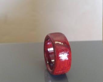 African Padauk wood ring