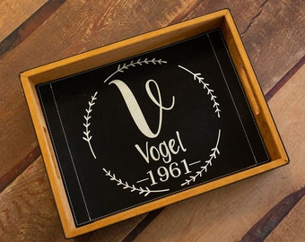 Personalized Wedding Favor Vegan Leather Tray