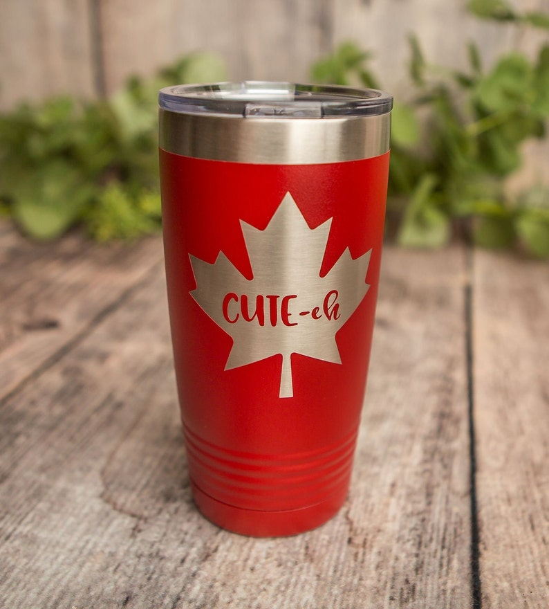 4b7d857f4a1 Cute-Eh - Engraved Polar Camel Stainless Steel Tumbler, Insulated Travel  Mug, Yeti Style Cup, Canadian Funny Mug, Cute Canadian Gift