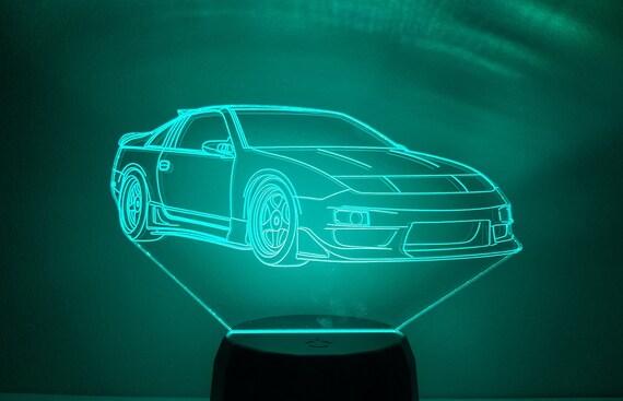 Nissan 300zx led affichage table lampe chambre decor bureau etsy