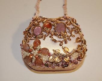 Mary Francis -  Unique Purse Handbag-  Beaded and Embellished