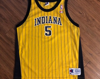 e36c322d392 Vintage 90 s Champion Indiana Pacers Jersey Jalen Rose NBA Basketball Size  Youth XL- Mens Small