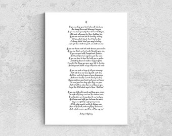 photograph about If by Rudyard Kipling Printable referred to as Rudyard kipling if Etsy