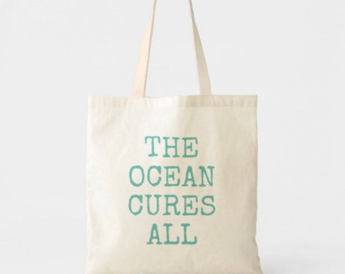 The Ocean Cures All Lightweight Cotton Tote Bag