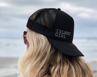 Island Girl Womens Black Foam Trucker Hat.