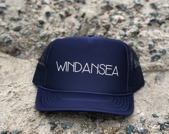 Windansea Navy Blue Foam Trucker Hat