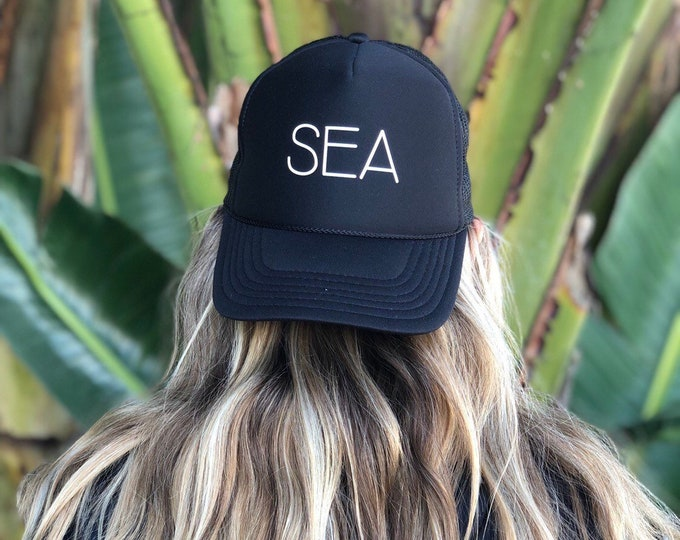 SEA Black Foam Unisex Trucker Hat