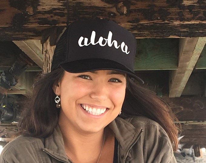 Aloha Black Foam Unisex Trucker Hat