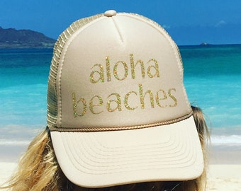 Aloha Beaches Cream Foam Trucker Hat
