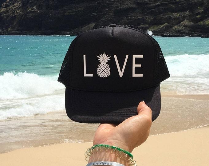 Love Pineapple Foam Trucker Hat For Women