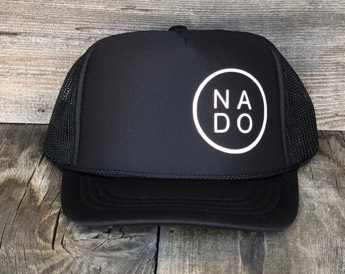 Youth Nado Black Foam Trucker Hat