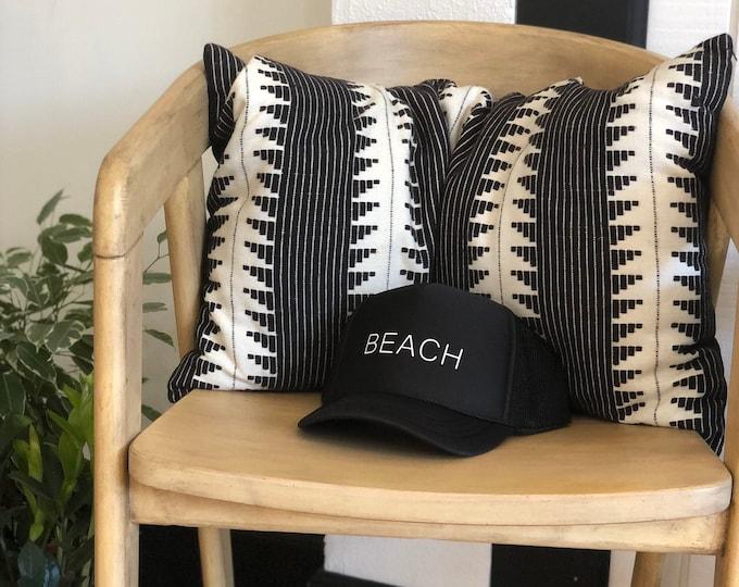 Beach Black Foam Trucker Hat