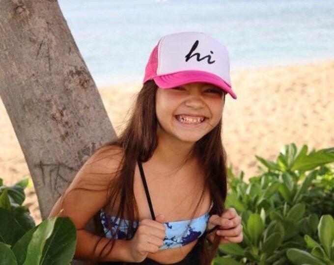 Youth Hawaii Hot Pink Foam Trucker Hat