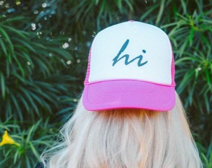 Hawaii Hot Pink Foam Trucker Hat
