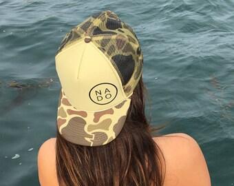 NADO  Coronado Camouflage Foam Trucker Hat, Coronado Island Foam Trucker Hat, Coronado Camouflage Trucker Hat