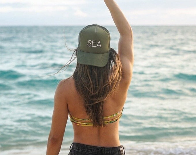 SEA Unisex Olive Green Foam Trucker Hat
