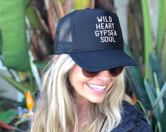 Wild Heart Gypsea Soul Black Foam Trucker Hat.