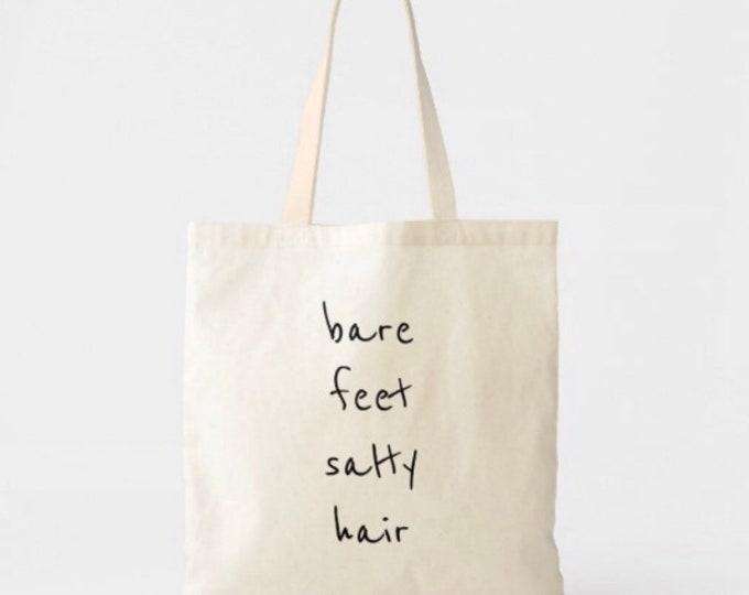 Bare Feet Salty Hair Lightweight Cotton Tote Bag