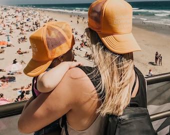 Mama and Me Sunsets Bonfires Aloha Gold Foam Trucker Hat
