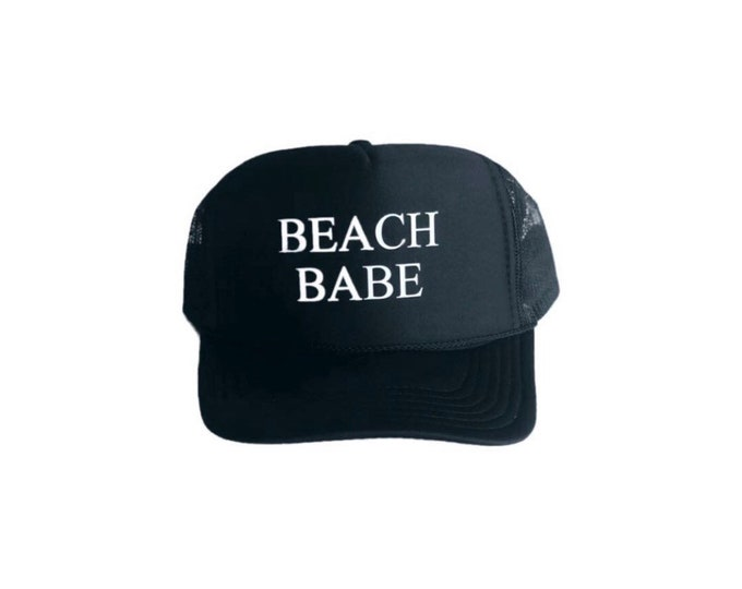 Beach Babe Womens Black Foam Trucker Hat