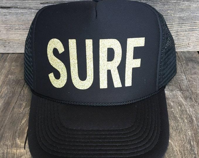 SURF Trucker Hat, Women's Trucker Hat, Hawaii Hats, Mermaid Hats, Ball Cap, Hats For Women, Beach Vibes, Wanderlust, Summer Hat, Aloha Hat