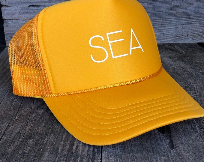 SEA Unisex Gold Foam Adult Trucker Hat