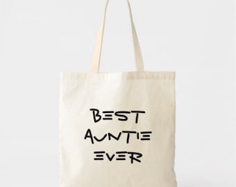 Best Auntie Ever Lightweight Cotton Tote Bag
